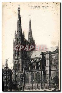 Old Postcard Clermont Ferrand La Cathedrale G O