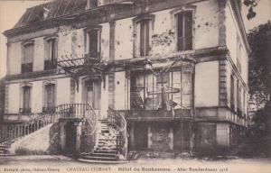 France Chateau Thierry Hotel du Bonhomme After Bombardment 1918