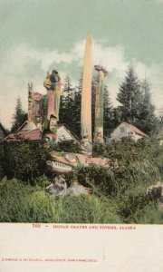 Indian Graves & Totems , Alaska, 1900-10s