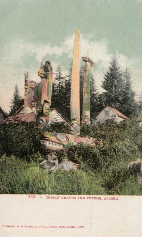 Indian Graves & Totems , Alaska, 1900-10s