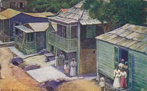 Puerto Rico Cayey Village Scene