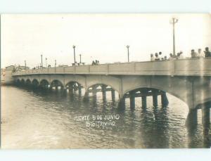 Pre-1950 rppc PUENTE 5 DE JUNIO Guayaquil Ecuador i3665