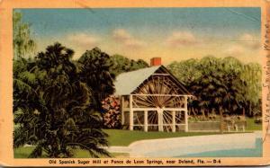 Florida Deland De Leon Springs Old Spanish Sugar Mill 1948 Dexter Press