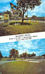 Skowhegan ME Belmont Motel on U. S. 201 Postcard