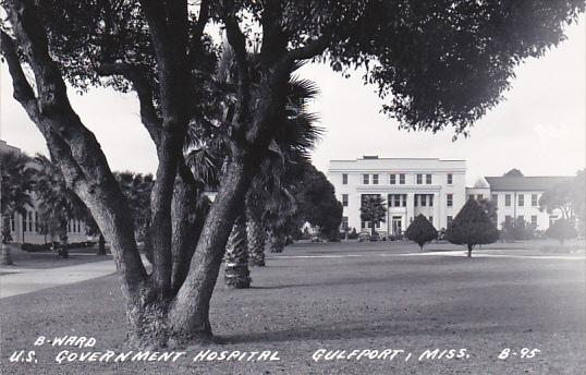 Mississippi Gulfport U S Government Hospital Real Photo