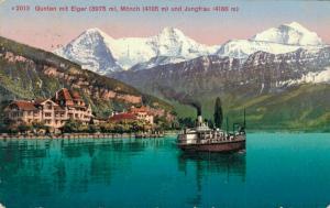 Switzerland Gunten mit Eiger Mönch und Jungfrau 02.99