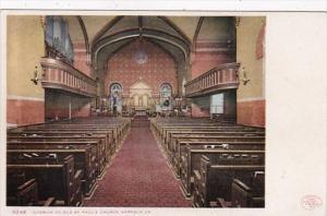 Virginia Norfolk Interior Of St Paul's Church Detroit Publishing