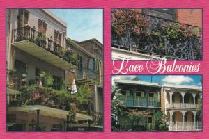 Louisiana New Orleans Lace Balconies In The French Quarter