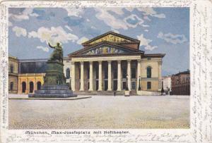 Max-Josefsplatz mit Hoftheater, Munchen (Bavaria), Germany, PU-1900
