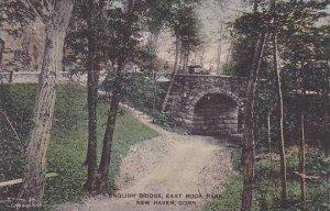 Connecticut New Haven English Bridge East Rock Park Albertype