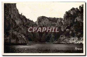 Postcard Old La Provencale Riviera Cassis and its Creeks cove of En Vau Needle