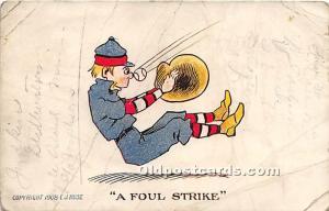 Old Vintage Baseball Postcard Post Card A Foul Strike 1908 Missing Stamp