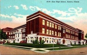 Illinois Aurora East High School 1955 Curteich