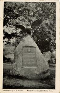 NH - Hillsboro. War Memorial  (card damaged)