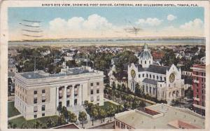 Birds Eye View Showing Post Office Cathedral And Hillsboro Hotel Tampa Florid...