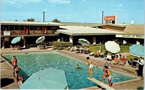 TEMPE, AZ Arizona    SANDS of TEMPE Near ASU  POOL c1960s  Roadside    Postcard