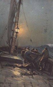 FISHING ; With the North Sea Fishing Fleet , 1907 ; 2/6 ; TUCK 2721