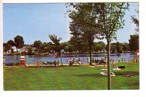 Swimming Beach, Trent Canal, Campbellford, Ontario, Len Leffier