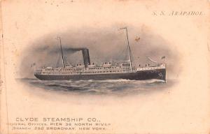Clyde Steamship Co, SS Arapahoe Ship 1907