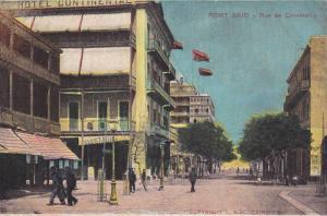 Rue De Commerce, Showing Hotel Continental, Restaurant, Port Said, Egypt, Afr...