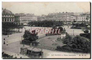 Old Postcard Le Havre Place Gambetta