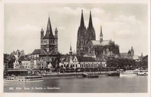 BG39534 koln dom st martin u stapelhaus real photo ship schiff   germany