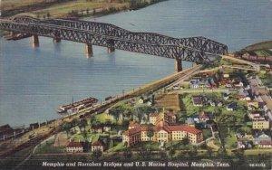 Memphis And Harraham Bridges And U S Marine Hospital Memphis Tennessee