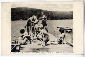 Lesson in Life Saving, Fern Rock Camp, YMCA, Iona Island NY