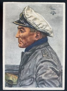 Mint Germany Picture Postcard U Boat Submarine Captain Drien