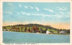 East Berne New York Helderberg Mts Warners Lake Antique Postcard J71988