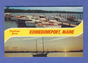 Kennebunkport,Maine/ME Postcard,Greetings From Kennebunkport