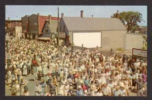 ME Crowds at Lobster Festival ROCKLAND MAINE Postcard