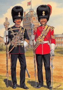 Postcard Uniforms of Royal Marines Artillery Infantry c1871-75 Southea #37-3