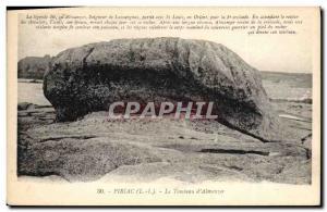 Old Postcard Death Piriac the tomb & # 39Almanzor
