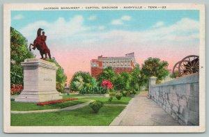 Nashville Tennessee~Jackson Monument~Capitol Grounds~Vintage Postcard
