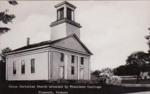 Vermont Plymouth Union Christian Church Attended By President Coolidge 1957 R...