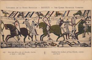 Bayeaux Queen Mathilda Tapestry Death Of Lewine and Gyrd Brothers Of King Harold