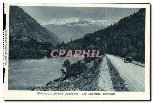 Old Postcard Route Du Bourg d & # 39Oisans Large russet