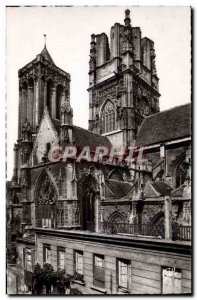 Postcard Moderne Caen L & # 39Eglise Saint John and the leaning Tower