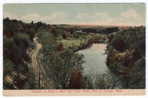 Glimpse of Miller's River and State Road, West of Orange, Mass
