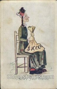 Artist Signed Paul C. Kober, P.C.K. 1905 two creases near bottom right corner...