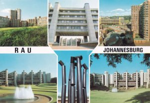 Rau Rand Afrikaans University Johannesburg South Africa Postcard