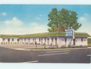 Linen CARD WRITER IDENTIFIED CITY FOR PLAZA MOTEL Hot Springs Arkansas AR M6378