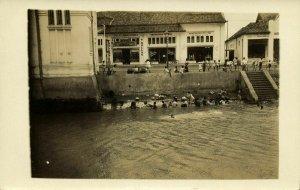 indonesia, JAVA BATAVIA, Pasar Baru, Dullas Tennis, Parla Gramophone 1910s RPPC