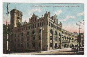 CPR Canadian Pacific Railway Station Montreal Quebec Canada 1910c postcard