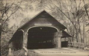 Fairlee-Orford VT Covered Bridge - Postcard #2