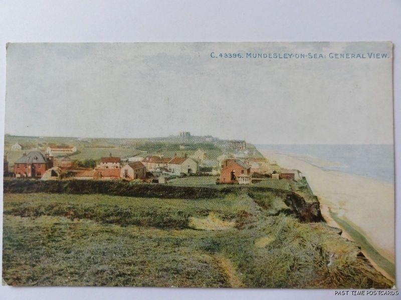 Norfolk MUNDESLEY ON SEA General View - Old Postcard by Photochrom Co C43396