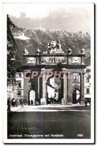Old Postcard Triumphpforte Innsbruck began Nordkette
