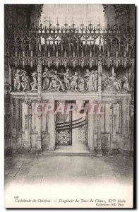 Old Postcard Cathedral of Chartres Fragment Choir Tour