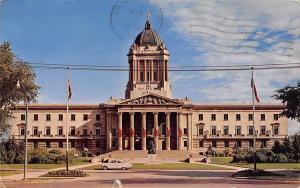 USA Canada Manitoba Legislative Building, Winnipeg Statue Auto Vintage Car